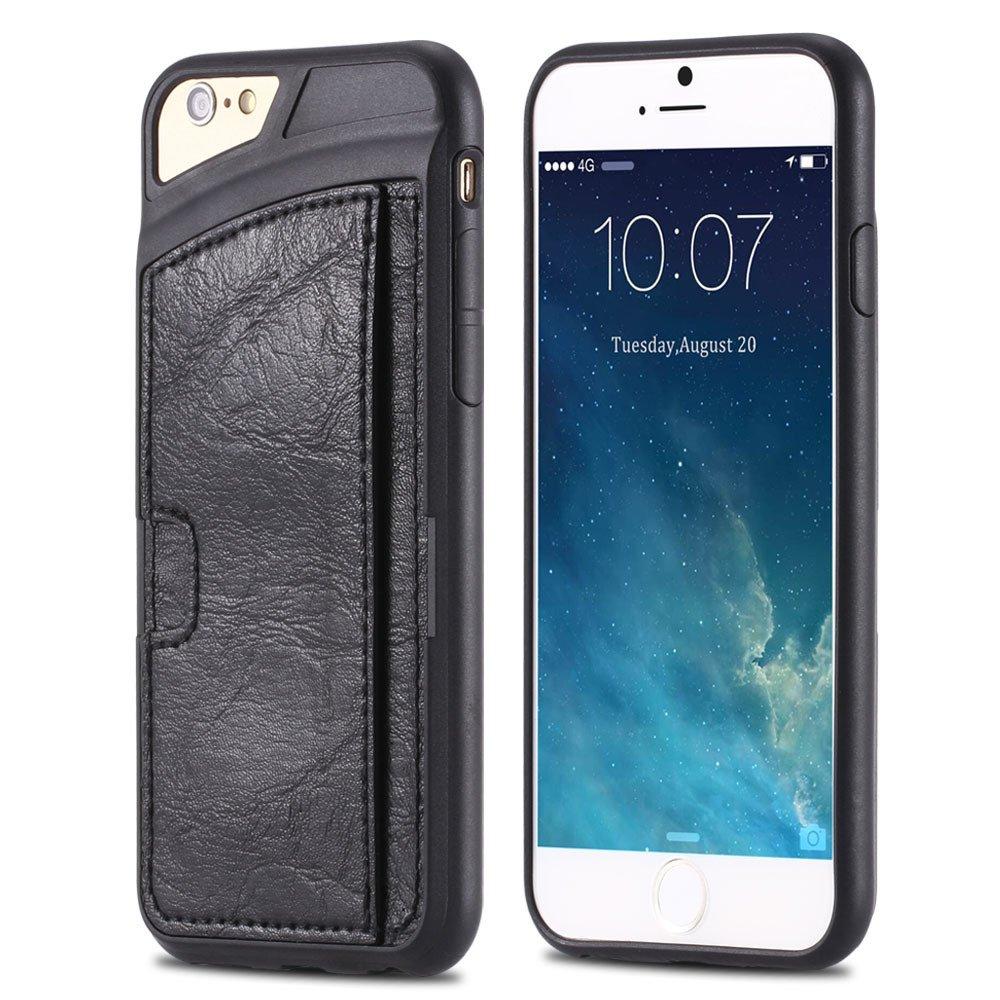 For Iphone 6 Leather Case Luxury Retro Hard Back Pu Leather Case F 32261725786-1-Black