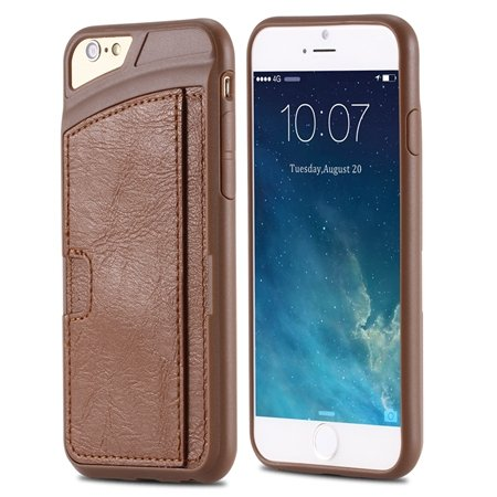 For Iphone 6 Leather Case Luxury Retro Hard Back Pu Leather Case F 32261725786-2-Brown