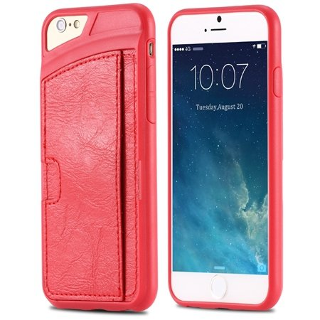 For Iphone 6 Leather Case Luxury Retro Hard Back Pu Leather Case F 32261725786-3-Red