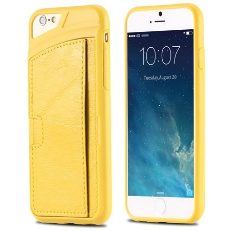 For Iphone 6 Leather Case Luxury Retro Hard Back Pu Leather Case F 32261725786-4-Yellow