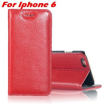 For Iphone 6 Plus Leather Case Luxury Lychee Pattern Pu Leather Ca 32259329563-2-Red For Iphone 6