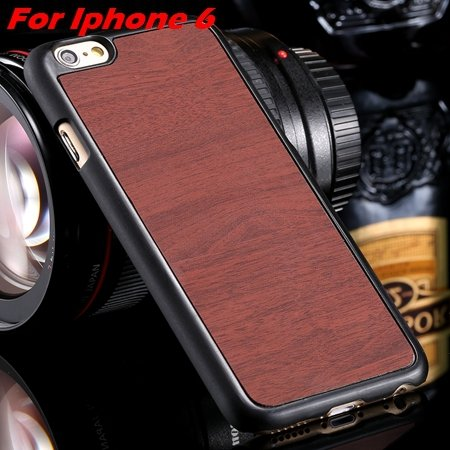 """Luxury Retro Wood Grain Hard Case For Iphone 6 4.7"""""""" Deluxe Fashion 32253933772-1-Brown For I6"""