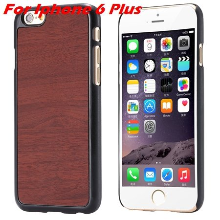 "Luxury Retro Wood Grain Hard Case For Iphone 6 4.7"""" Deluxe Fashion 32253933772-8-Brown For I6 Plus"