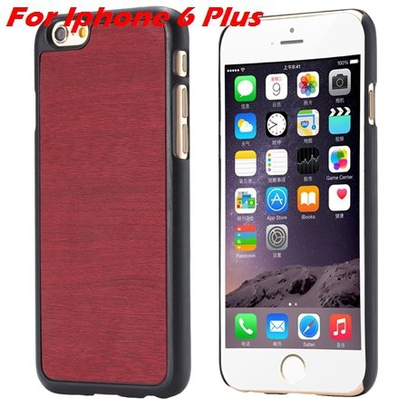 "Luxury Retro Wood Grain Hard Case For Iphone 6 4.7"""" Deluxe Fashion 32253933772-12-Red For I6 plus"
