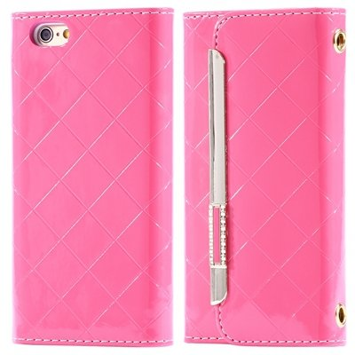 """Hot Classic Plaid Pattern Pu Leather Case For Iphone 6 4.7"""""""" Case W 32256588971-1-Pink"""