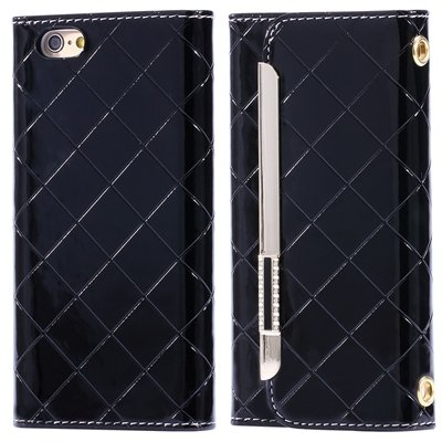 "Hot Classic Plaid Pattern Pu Leather Case For Iphone 6 4.7"""" Case W 32256588971-5-Black"