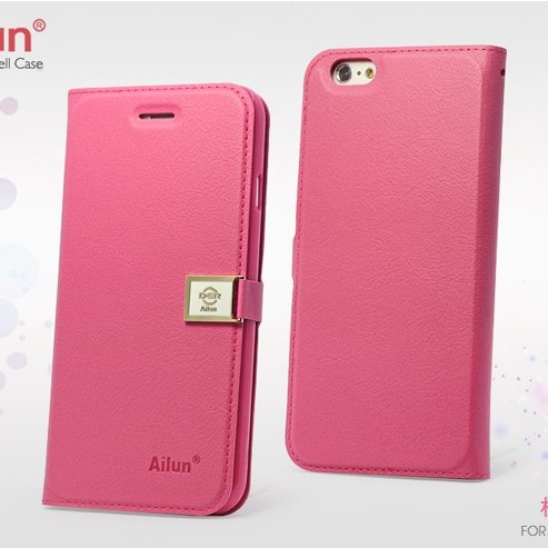 For Iphone 6 Case Retro Luxury Pu Leather Case For Iphone 6 4.7Inc 32262101666-6-Hot Pink