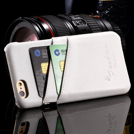 2015 Retro Lychee Luxury Geniune Leather Case For Iphone 6 4.7Inch 2045850384-2-White