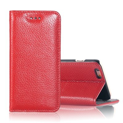 """Vintage Elegent Lychee Pattern Pu Leather Case For Iphone 6 4.7"""""""" F 32259828402-2-Red"""