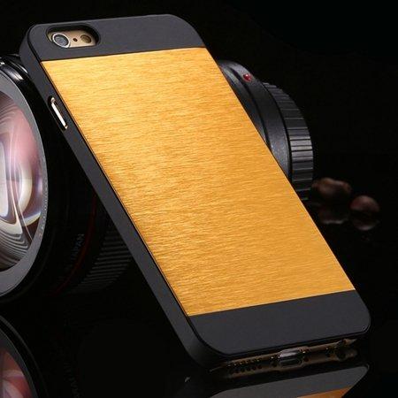 For Iphone 6 Case Luxury Retro Aluminum Bursh Metal Case For Iphon 32270600915-9-Yellow