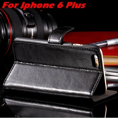 """Retro Luxury Real Genuine Leather Case For Iphone 6 4.7"""""""" /For Ipho 32265909611-3-Black For I6 Plus"""