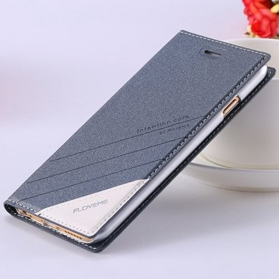 Retro Luxury Flip Pu Leather Case For Iphone 6 4.7Inch Original Ts 32265690549-3-Navy Blue
