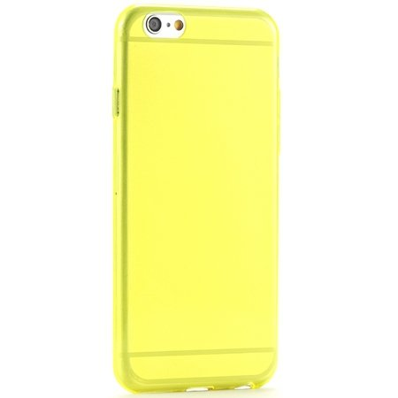 Ultra Thin 0.3Mm Flexible High Clear Tpu Soft Case For Iphone 6 4. 2039105537-2-Yellow