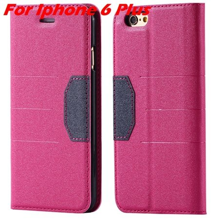 Cool Soft Feeling Pu Leather Case For Iphone 6 / Iphone 6 Plus Fli 32255922393-5-Hot Pink For Iphone