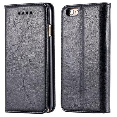 Soft Feel Original Pu Leather Case For Iphone 6 Flip Case Book Sta 32253957865-4-Black