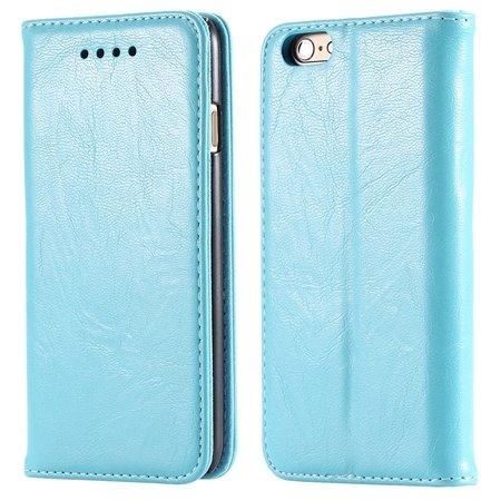 Soft Feel Original Pu Leather Case For Iphone 6 Flip Case Book Sta 32253957865-5-Sky Blue