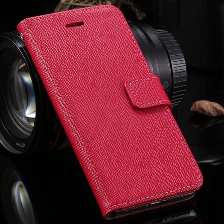 Vintage Luxury Genuine Leather Case For Iphone 6 4.7Inch Flip Stan 2041427538-4-Hot Pink
