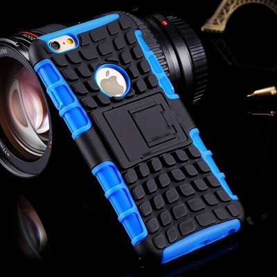 For Iphone6 Hard Case Anit-Slip 2 Parts Combo Capa Armor Case For  32294466026-2-Blue