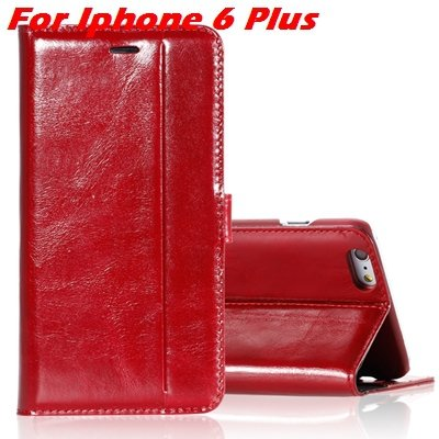 For Iphone 6 Leather Case Luxury Genuine Leather Case For Iphone 6 32266034858-2-Red For I6 Plus