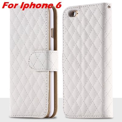 For Iphone 6 Case Vintage Luxury Business Sheapskin Grid Leather C 32257953439-2-White for Iphone 6