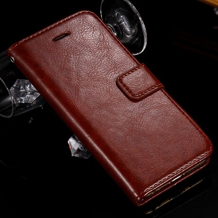 For Iphone 6 Filp Case Retro Luxury Men Women Pu Leather Case For  2045546292-5-Brown