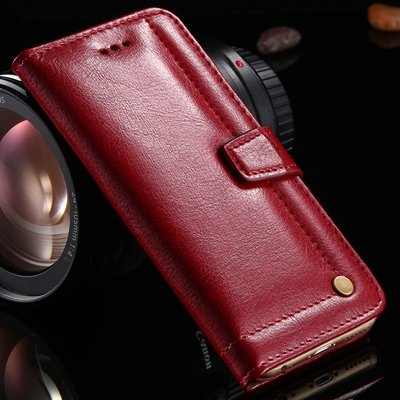 For Iphone 6 Real Leather Case Retro Luxury Original Genuine Leath 32266419115-2-Red