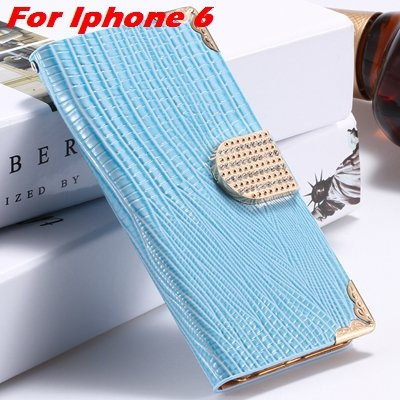 For Iphone 6 Diamond Case Girl'S Cute Luxury Bling Rhinestone Pu L 32266230500-4-Blue For Iphone 6