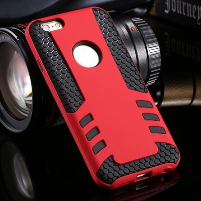 Retro Cool High Quality Hybrid Pc + Silicone Hard Case For Iphone  32255788845-6-Red
