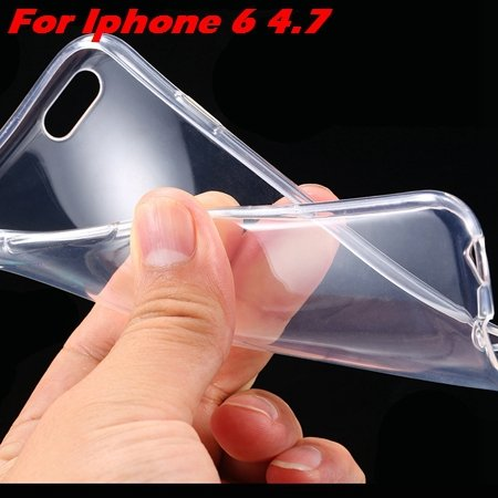 "High Quality Soft Back Cover Shell For Iphone6 4.7"""" Ultra Light Cl 32222098041-5-Clear For Iphone 6"