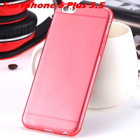 """High Quality Soft Back Cover Shell For Iphone6 4.7"""""""" Ultra Light Cl 32222098041-19-Red For I6 Plus"""