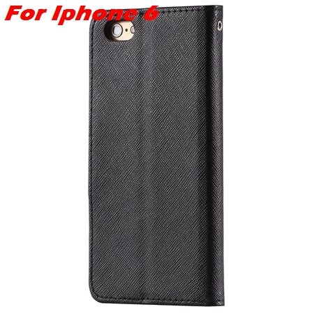 New Retro Flip Leather Case For Iphone 6 Plus & Iphone 6 Flip Case 2051510402-6-Black For Iphone 6
