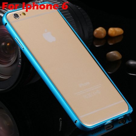 Ultra Thin Aluminum Bumper Luxury Frame Metal Case For Iphone 6 Pl 32214515559-3-Blue ForIphone6