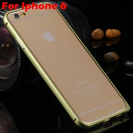 Ultra Thin Aluminum Bumper Luxury Frame Metal Case For Iphone 6 Pl 32214515559-5-Yellow For Iphone 6