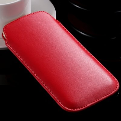 High Quality General Leather Case For Iphone 6 Plus 5 4 /For Samsu 32266775748-3-Red