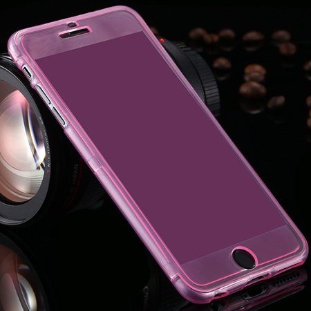 For Iphone6 5.5 Case Flexible Durable Transparent Clear Case For I 2053012130-2-Pink