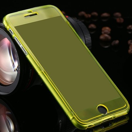 For Iphone6 5.5 Case Flexible Durable Transparent Clear Case For I 2053012130-6-Yellow