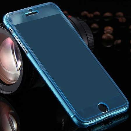 For Iphone6 5.5 Case Flexible Durable Transparent Clear Case For I 2053012130-7-Light Blue