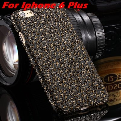 2015 Gold Luxury Palace 3D Flower Pu Leather Case For Iphone 6 /Ip 32258106290-1-Black For I6 Plus
