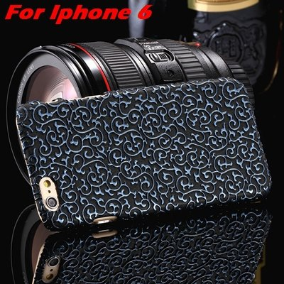 2015 Gold Luxury Palace 3D Flower Pu Leather Case For Iphone 6 /Ip 32258106290-8-Blue For Iphone 6