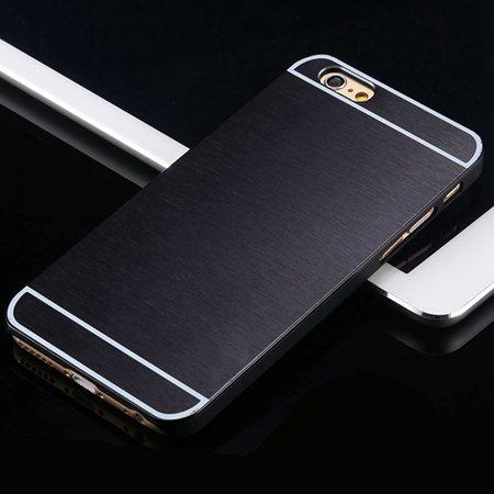Hot Luxury Brand Brush Aluminum Metal Case For Iphon 32226437912-1-Black