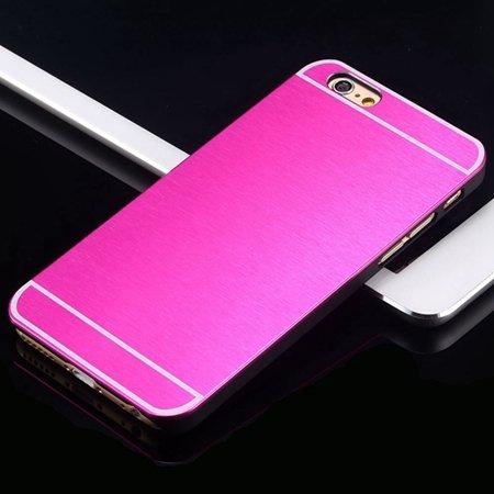 Hot Luxury Brand Brush Aluminum Metal Case For Iphon 32226437912-2-Hot Pink