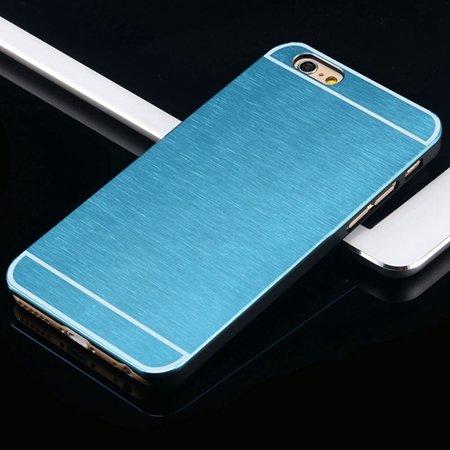 Hot Luxury Brand Brush Aluminum Metal Case For Iphon 32226437912-5-Light Blue