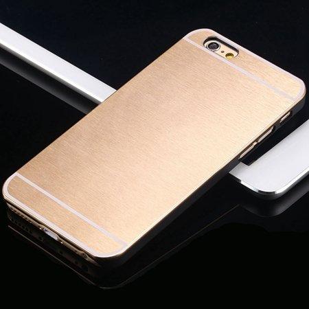Hot Luxury Brand Brush Aluminum Metal Case For Iphon 32226437912-6-Gold