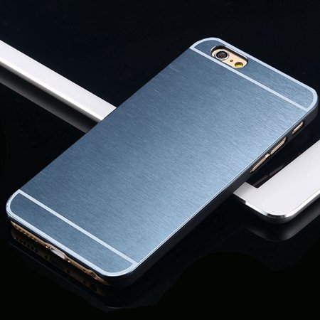 Hot Luxury Brand Brush Aluminum Metal Case For Iphon 32226437912-8-Navy Blue