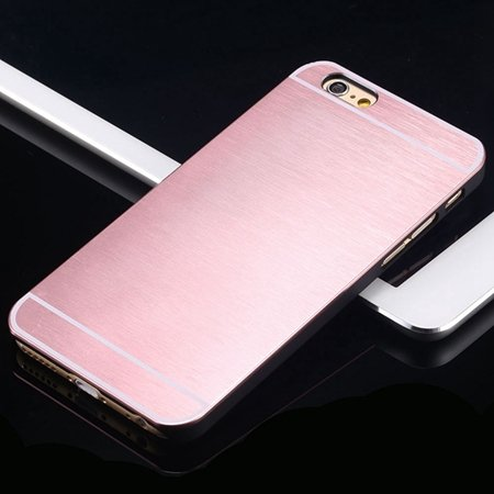 Hot Luxury Brand Brush Aluminum Metal Case For Iphon 32226437912-10-Pink