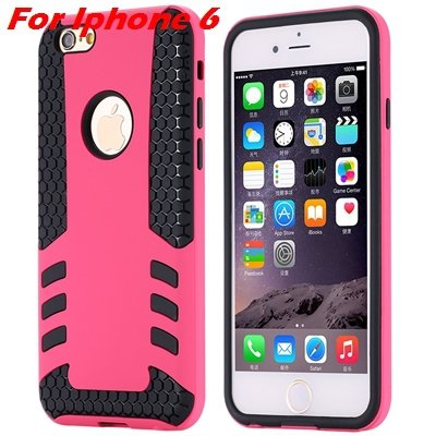Luxury Rocket High Quality Pc+Tpu Hybrid Hard Case For Iphone 6 Pl 32255559642-2-Hot Pink  For I6