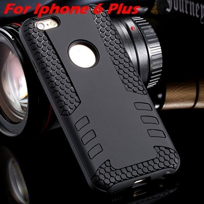 Luxury Rocket High Quality Pc+Tpu Hybrid Hard Case For Iphone 6 Pl 32255559642-11-Black  For I6 Plus