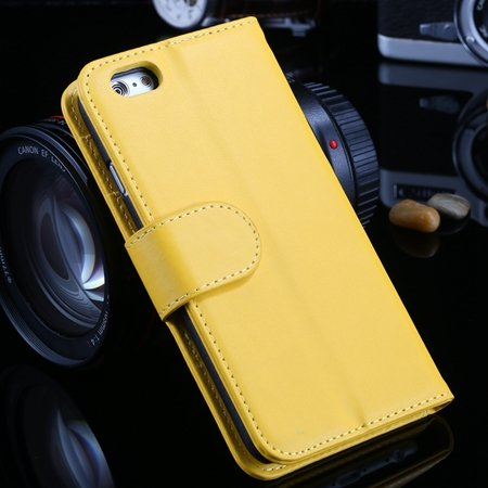 For Iphone 6 Plus Wallet Case Luxury Flip Pu Leather Case For Ipho 2055768856-6-Yellow