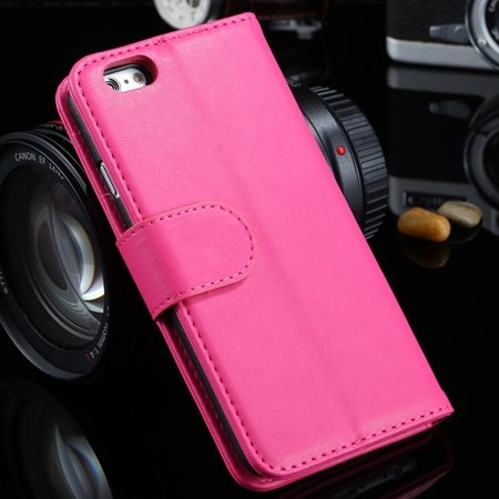 For Iphone 6 Plus Wallet Case Luxury Flip Pu Leather Case For Ipho 2055768856-9-Hot Pink