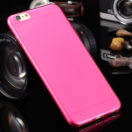 2015 Retro Cute 0.3Mm Transparent Clear Soft Tpu Cas 2026650089-7-Hot pink For I6 Plus